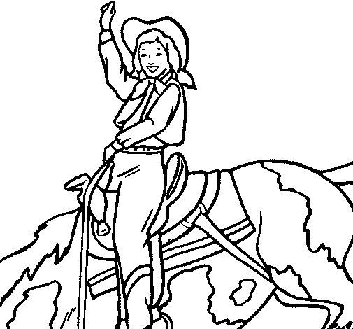 Dibuix de Vaquera per Pintar on-line