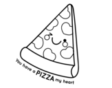 Dibuix de You have a pizza my heart per pintar