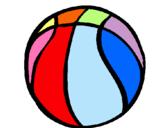 Dibuix Pilota de bàsquet pintat per pilota queralt