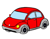 Dibuix Automòbil modern  pintat per COTXE