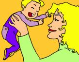 Dibuix Mare amb la seva nadó pintat per roger