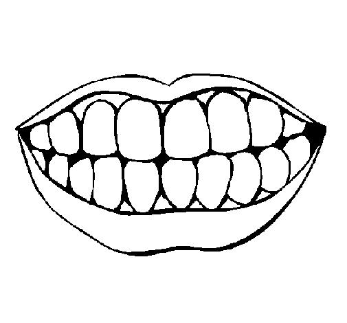 Dibuix Boca i dents pintat per Iria