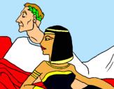 Dibuix Cèsar i Cleòpatra pintat per seeergi