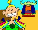 Dibuix Samurai pintat per sara