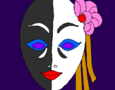 Dibuix Màscara italiana pintat per Martina Moreno