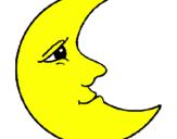 Dibuix Lluna pintat per lluna