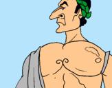 Dibuix Juli Cèsar pintat per ROMANS