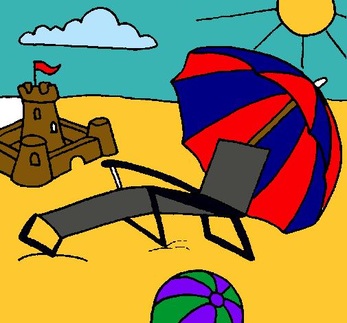 Dibuix de Platja pintat per Usuari no registrat el dia 05 de Desembre del  2009