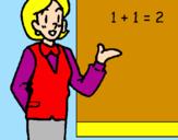 Dibuix Mestra de matemàtiques  pintat per Amanda