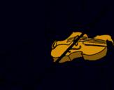 Dibuix Violinista  pintat per Aida