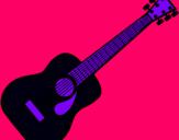 Dibuix Guitarra espanyola II pintat per **gemma