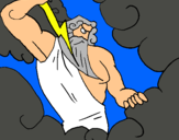 Dibuix Déu Zeus pintat per CABALLERS