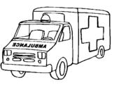 Dibuix Ambulància pintat per sonia