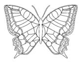 Dibuix Papallona  pintat per fatou samasa