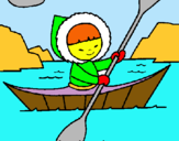 Dibuix Canoa esquimal pintat per georgina