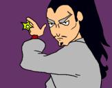 Dibuix Ninja pintat per OLEGUER SANS ESQUÉ