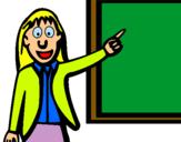 Dibuix Professora pintat per Clàudia Boldú