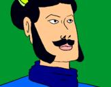 Dibuix Guerrer xian pintat per alejandro