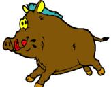 Dibuix Porc senglar pintat per david