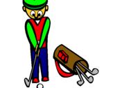 Dibuix Jugador de golf II pintat per MARC LOPEZ