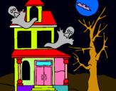 Dibuix Casa fantansma pintat per jana