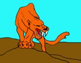 Dibuix Tigre amb afilats ullals pintat per Love