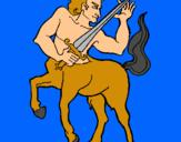 Dibuix Centaure pintat per joan