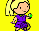 Dibuix Noia tennista pintat per laaa