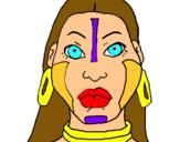 Dibuix Dona maia pintat per claudieta