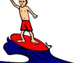 Dibuix Surfista pintat per andreatonti