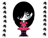 Dibuix Look Emo pintat per rmenteros