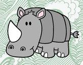 Dibuix Rinoceront nadó pintat per irinetta