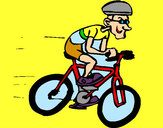 Dibuix Ciclisme  pintat per NEUS