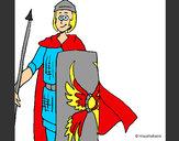 Dibuix Soldat romà II pintat per NEUS