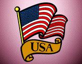 Dibuix Bandera dels Estats Units pintat per anna9