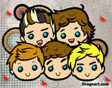 Dibuix One Direction 2 pintat per Gleexpo