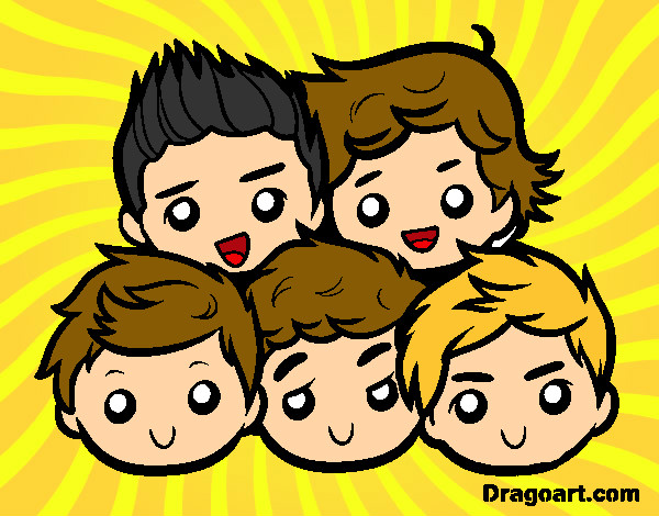Dibuix One Direction 2 pintat per maria3