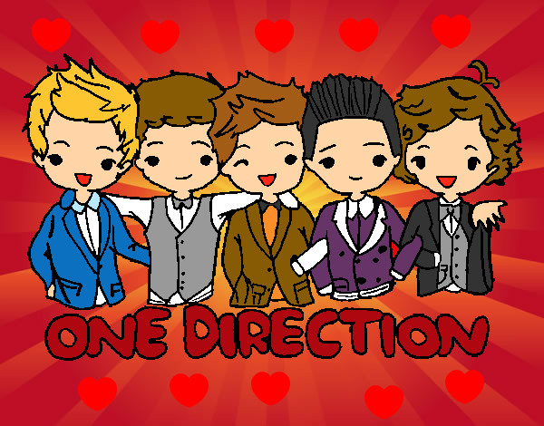 Dibuix One direction pintat per maria3