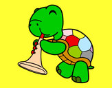 Dibuix Tortuga amb trompeta pintat per ALEIX_G
