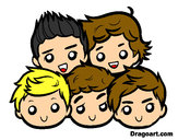 Dibuix One Direction 2 pintat per auryner