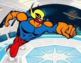 Dibuix Superheroi sense capa pintat per riki37