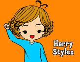 Dibuix Harry Styles pintat per Giselaprex