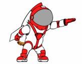 Astronauta amb coet