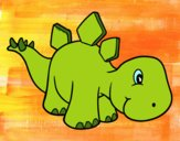 Estegosaurio nadó