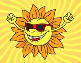 Un sol amb ulleres de sol