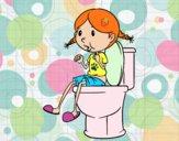 Utilitza el bany