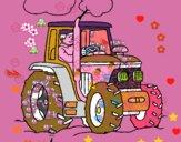 Tractor en funcionament