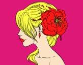 Pentinat de casament amb flor