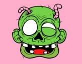 Cara de zombie amb cucs