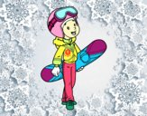 Una noia Snowboard